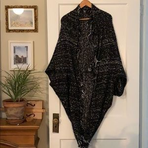 Oversize knit shrug by Free People with fringe